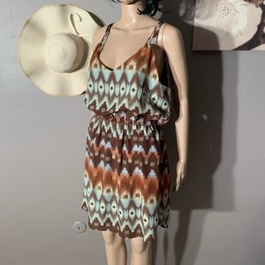 "City Triangles Size L Dress Boho Length 37"""